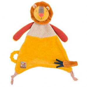 Moulin Roty - Les Papoum - Doudou attache tétine Lion